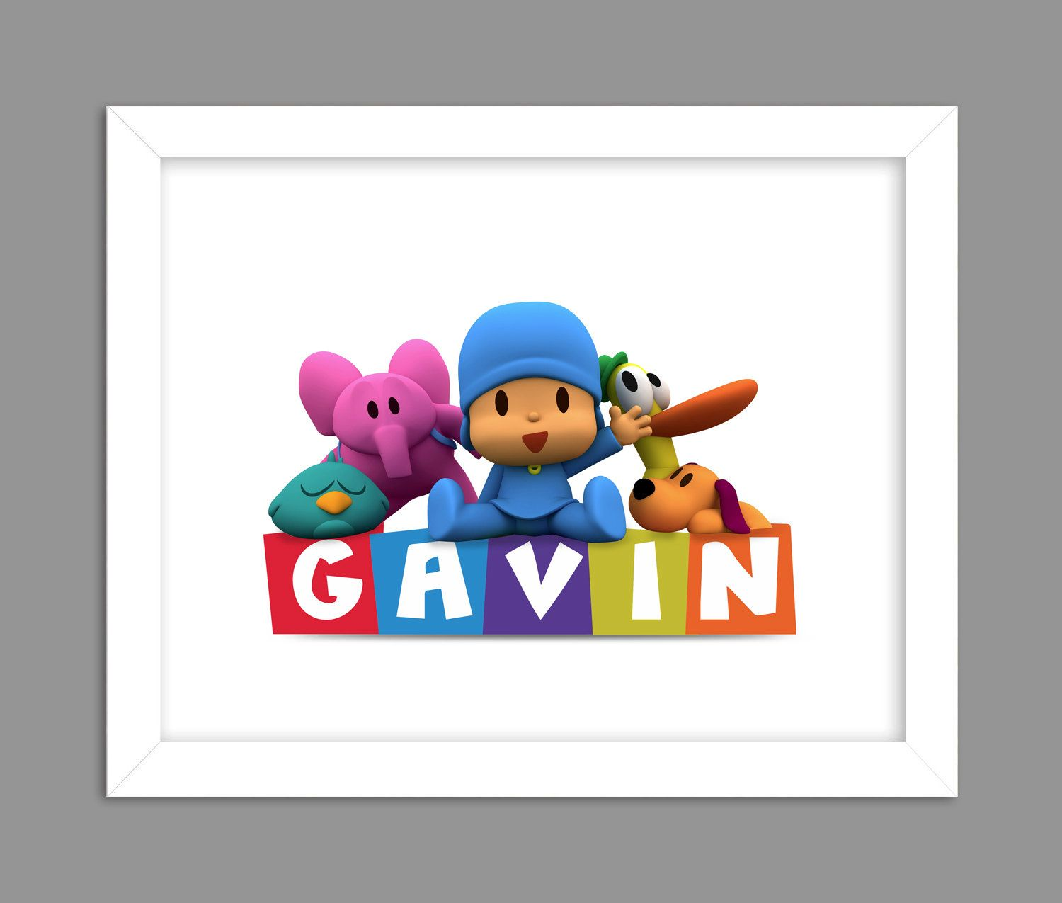 Digital Download Pocoyo And Friends Custom Name By Dotsonthewall