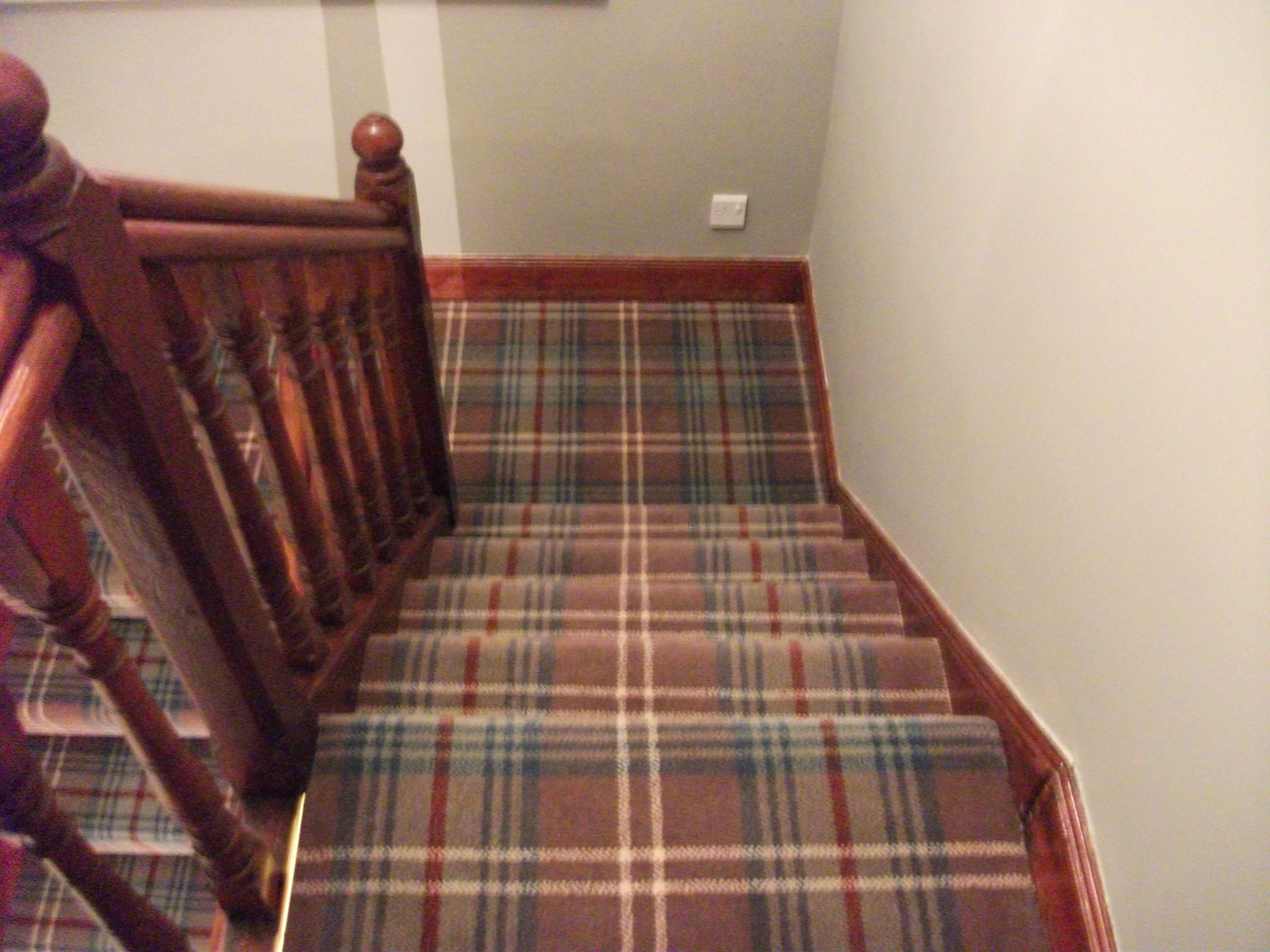 Hy Customer Before Christmas With Lovely New Tartan Carpet