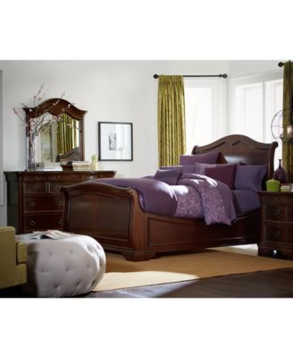 Bordeaux II Queen Bed $589.00 Take your bedroom to a whole new level of luxury with this gracefully curved & richly hued sleigh bed. Crafted in the Louis Phillipe style, this bed features okoume mahogany veneers in a cocoa brown finish.
