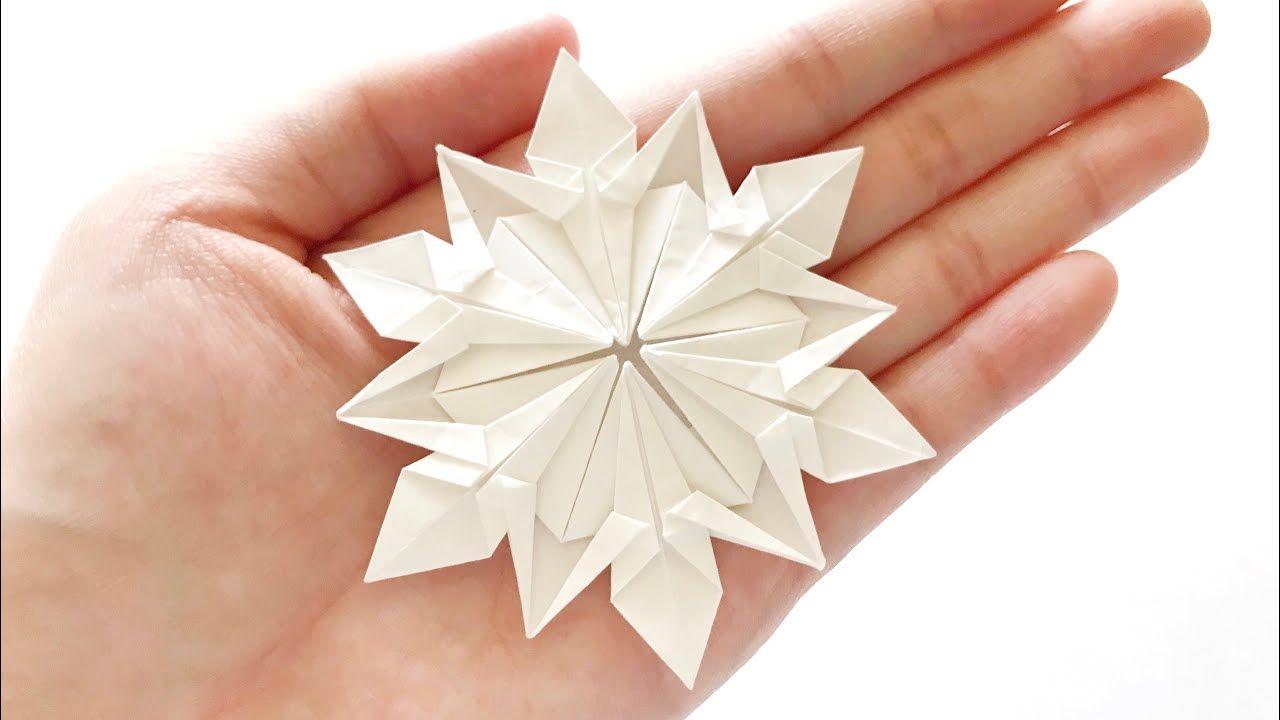 Origami Snowflake ️ 雪の花 折り紙 雪花 摺紙 (Dennis Walker)