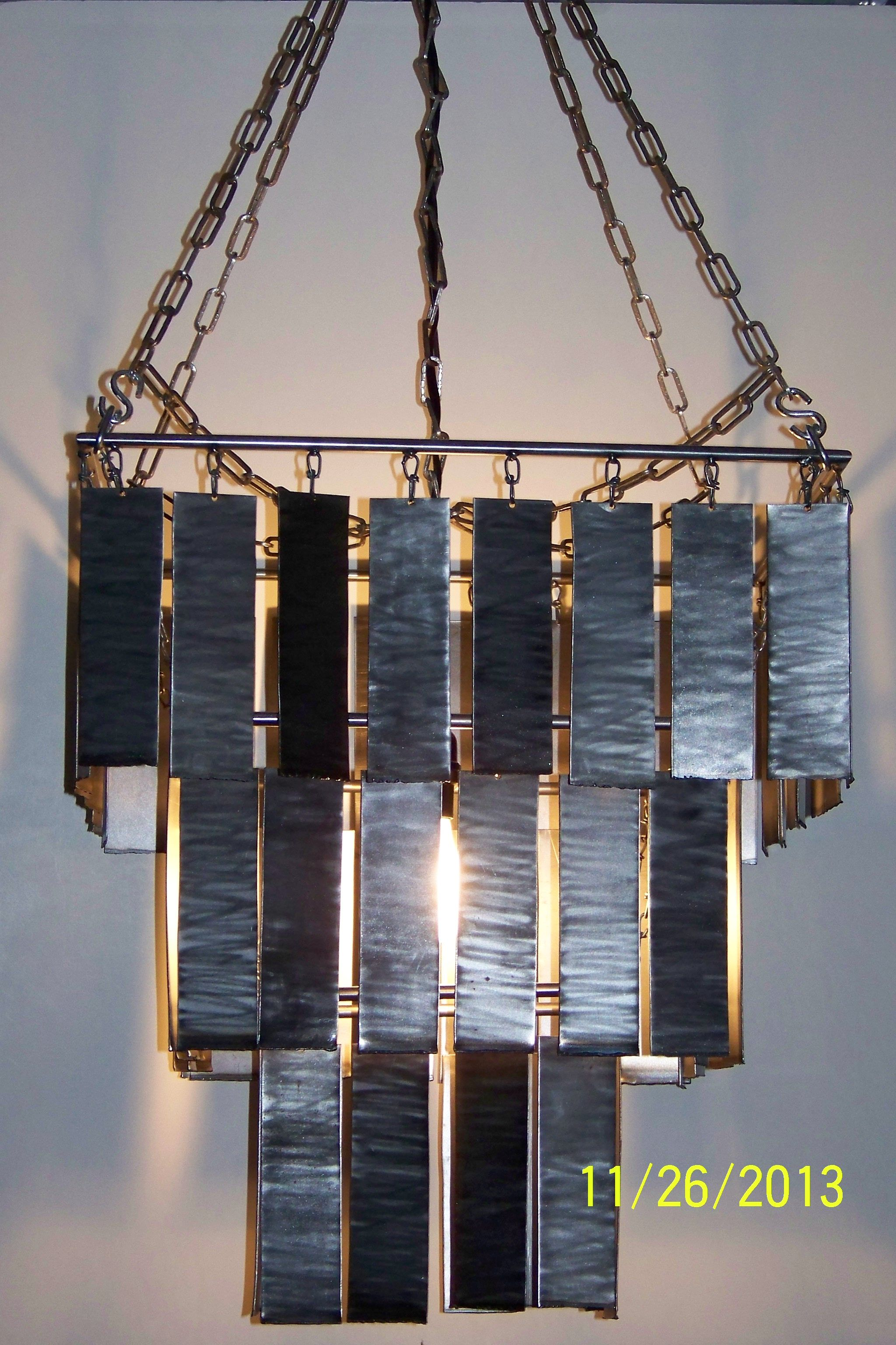 Three tier chandelier lamps lighting pinterest welded art three tier chandelier arubaitofo Gallery