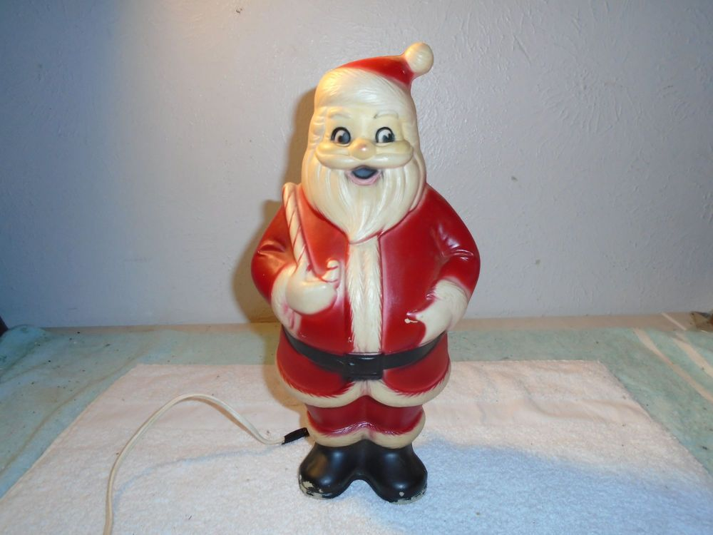 Details about VINTAGE 1950s SANTA CLAUS CHRISTMAS LIGHTED BLOW MOLD