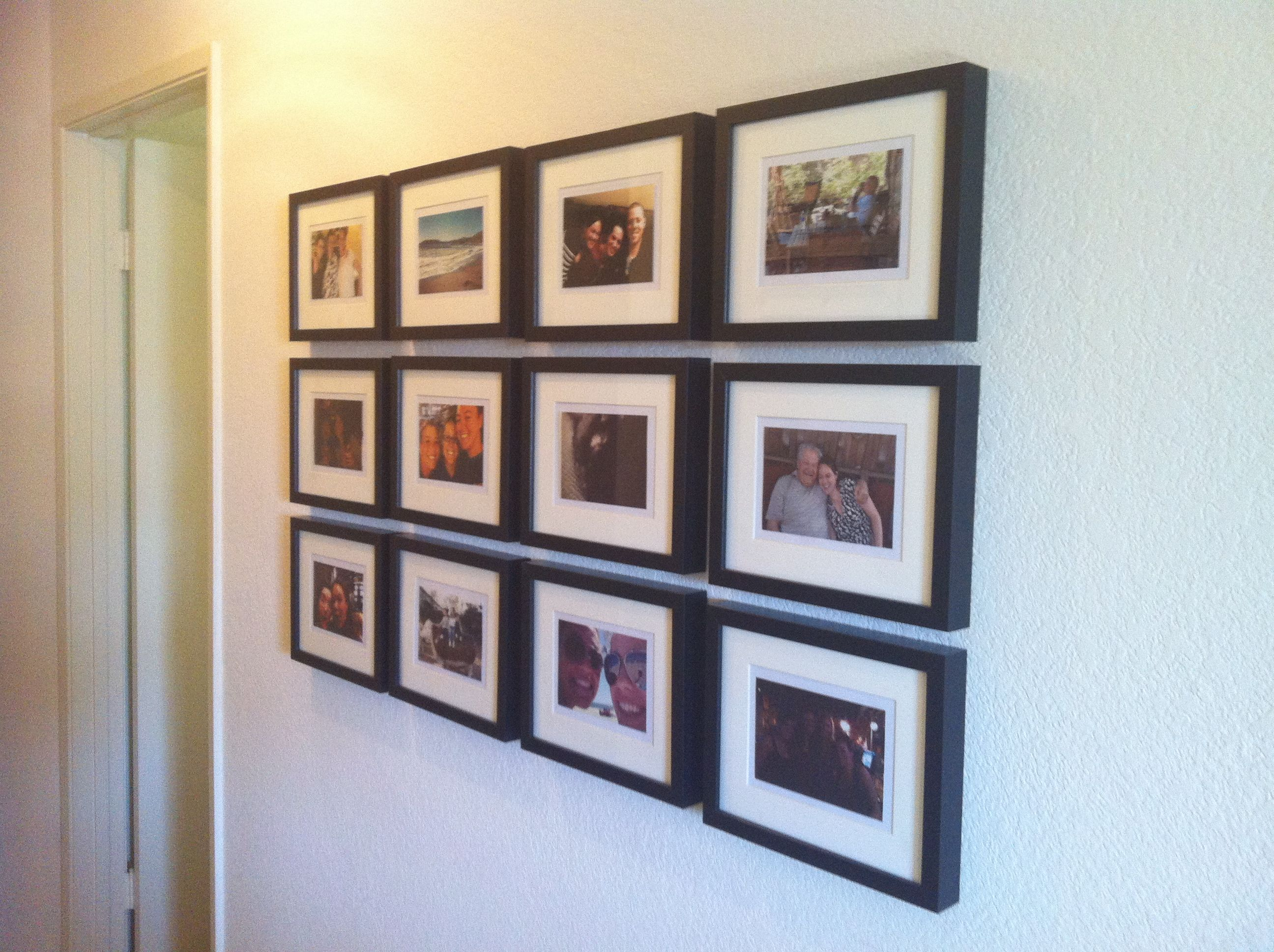i actually made this frame collage for my hallway 5 ikea frames prints from