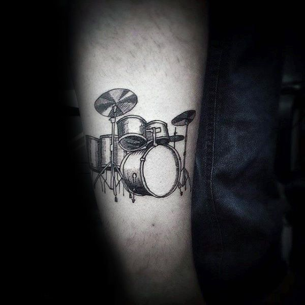 Feel The Beat With Top 70 Best Drum Tattoos For Men