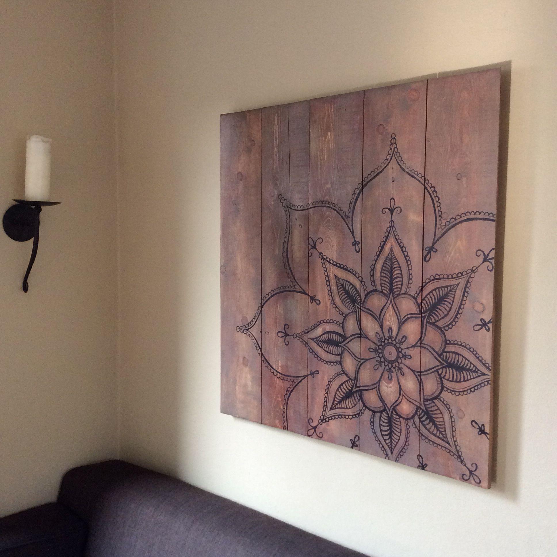 Mandala art mandala pinterest tableau toiles et for Dessin mural peinture