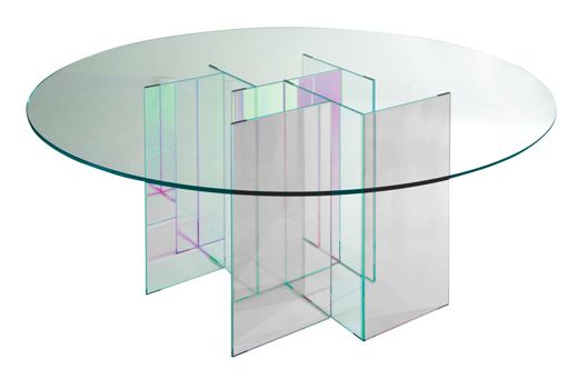 Diapo Dining Table Roche Bobois Modern Glass Dining Table