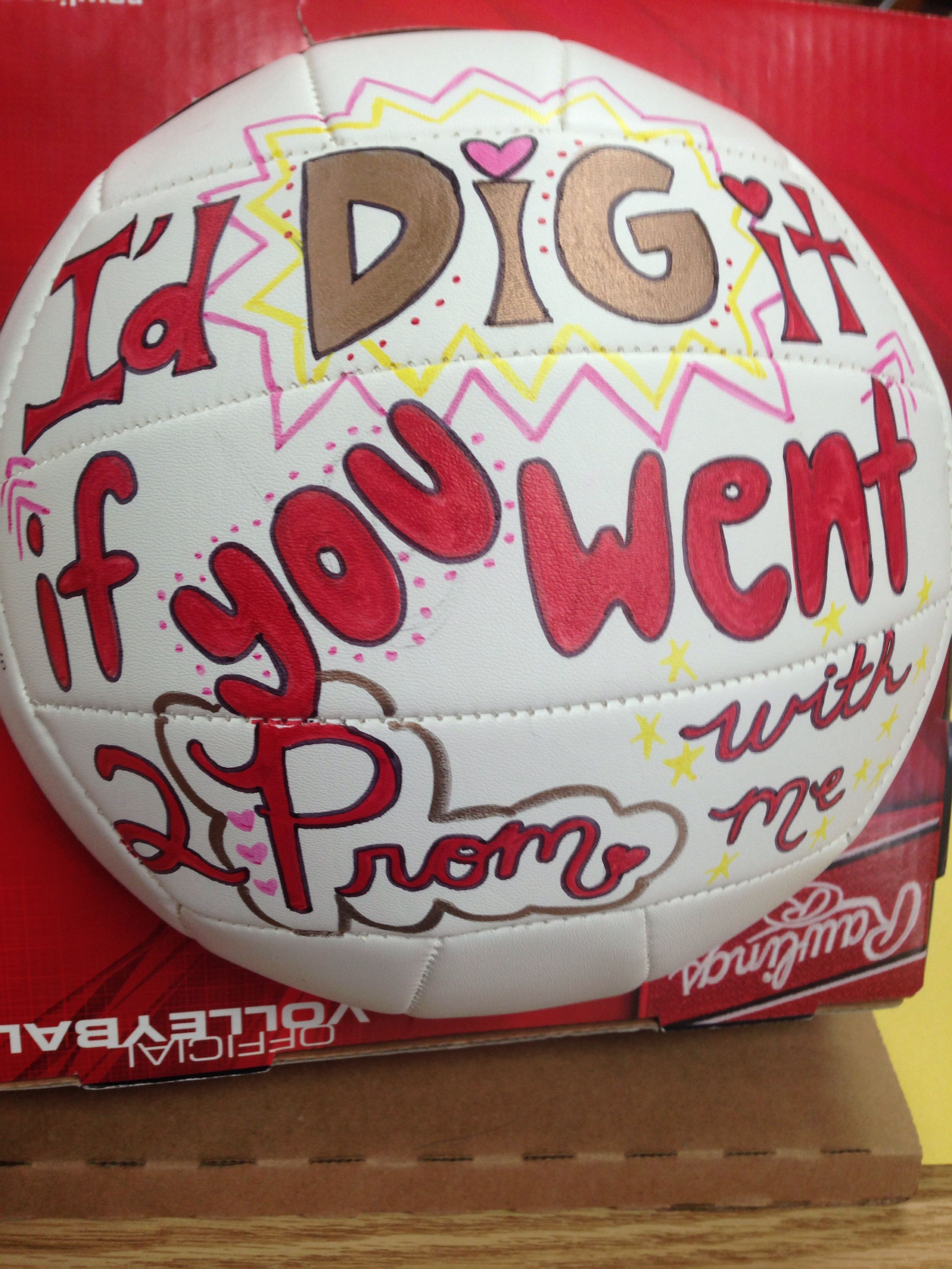 Volleyball Player Prom Proposal Cute Homecoming Proposals Homecoming Proposal Cute Prom Proposals