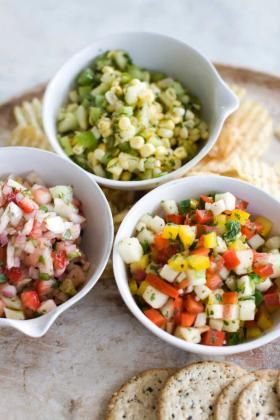 No tomatoes needed for these summer salsas Apples, peppers, even strawberies can be used- summer recipes, salsa