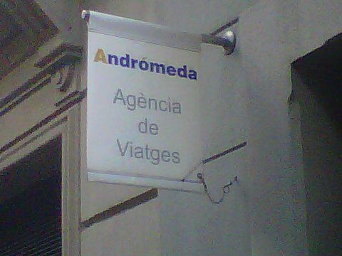 ANDRÓMEDA, Ajencia de viajes, calle Enric Granados, Barcelona.