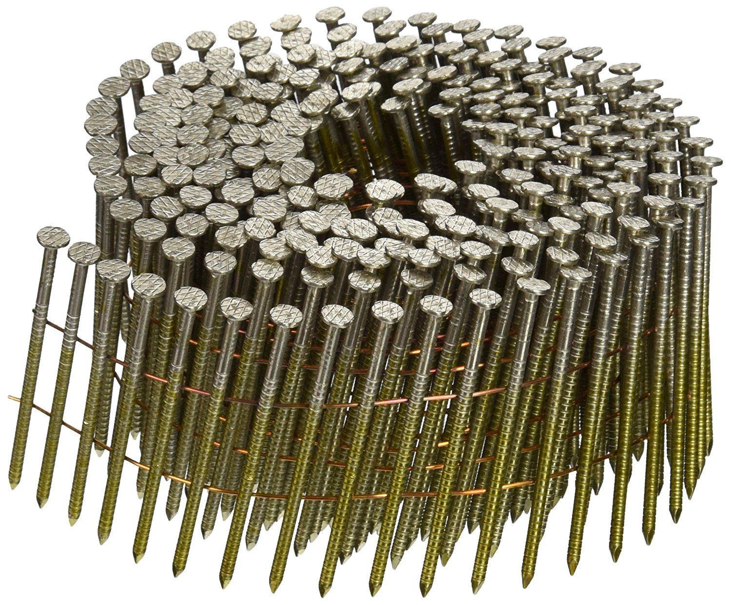 Hitachi 13352 2 1 4 Inch X 0 090 Inch Ring Stainless Steel 304 16 Degree Wire Coil Fastener 900 Pack Read More At The Stainless Steel 304 Fasteners Hitachi