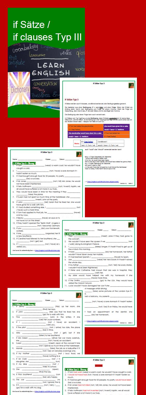 if s tze if clauses typ 3 arbeitsbl tter mit l sungen pdf und docx englisch autor in. Black Bedroom Furniture Sets. Home Design Ideas
