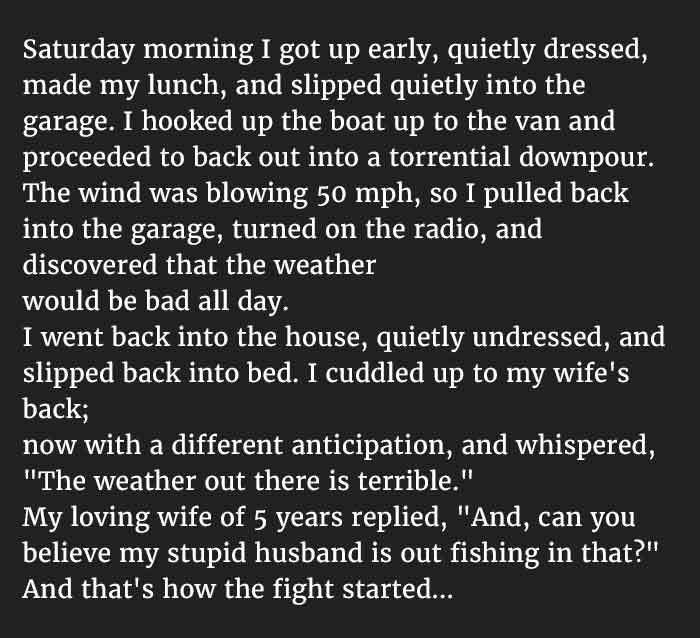 Good life? bad life? Funny marriage situations.... that's how the fight started...
