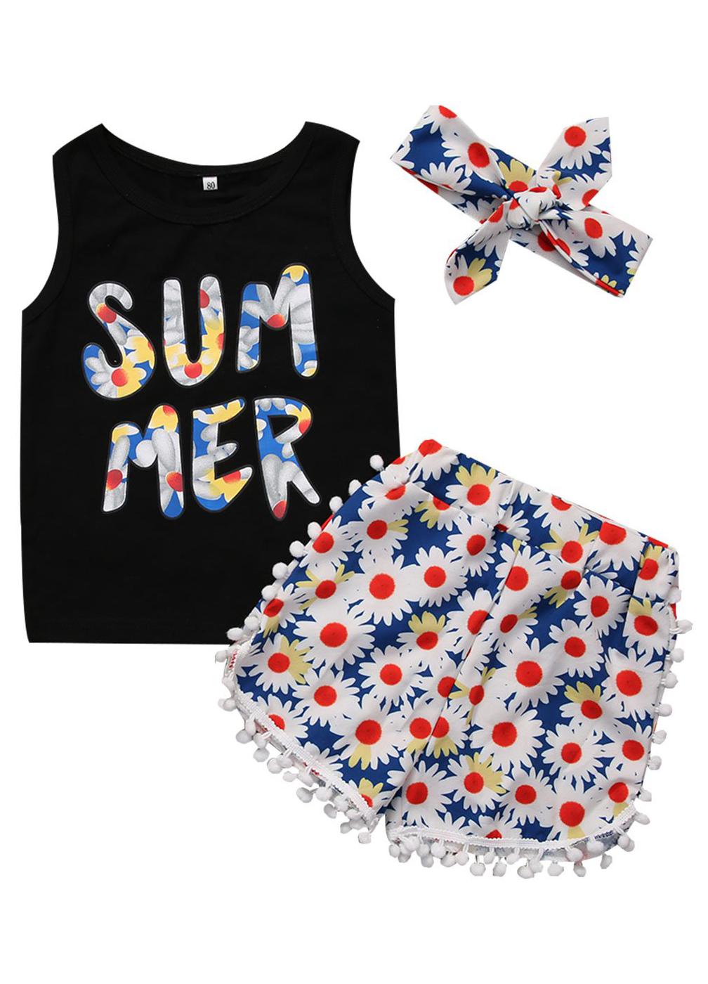 6a4d3e39b7b5b Summer Floral Set | B A B Y C L O T H E S | Kids outfits girls, Kids ...