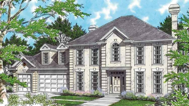 European Style House Plan 4 Beds 2 5 Baths 2912 Sq Ft Plan 48 442 House Plans Prairie Style Houses Floor Plan Design