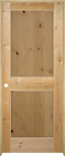 Mastercraft Knotty Alder Flat 2 Panel Prehung Interior Door At