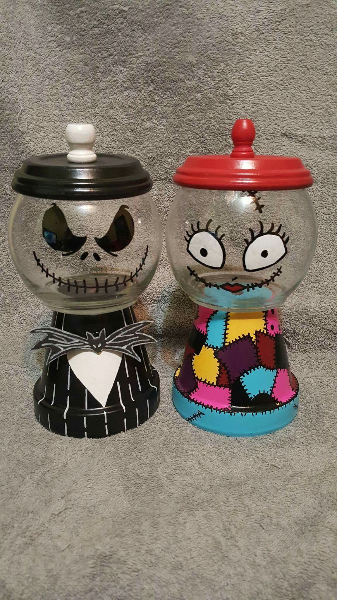 Jack and Sally candy dishes | Holidays - Halloween | Pinterest ...
