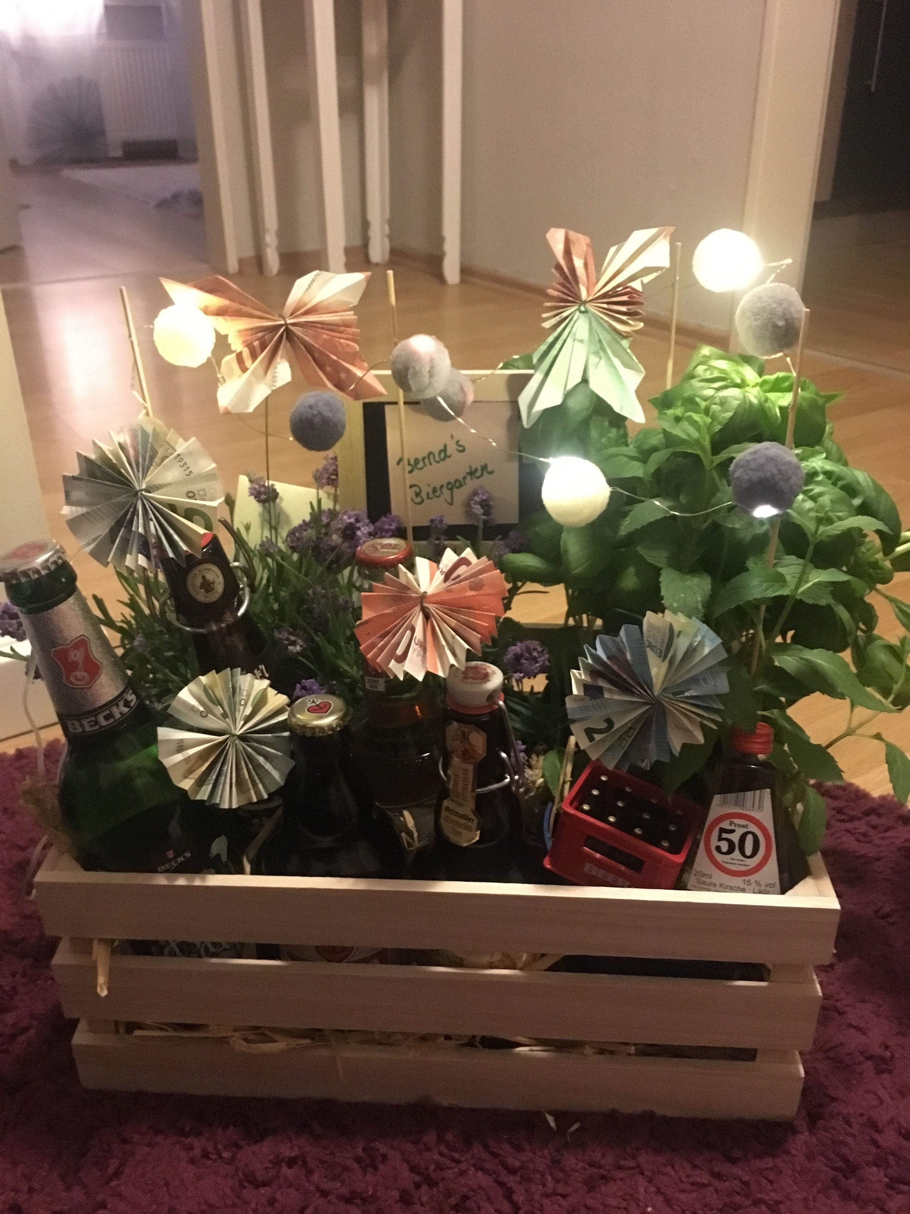 Biergarten Zum Verschenken Geschenkideen Blumen Falten Besondere Geschenke