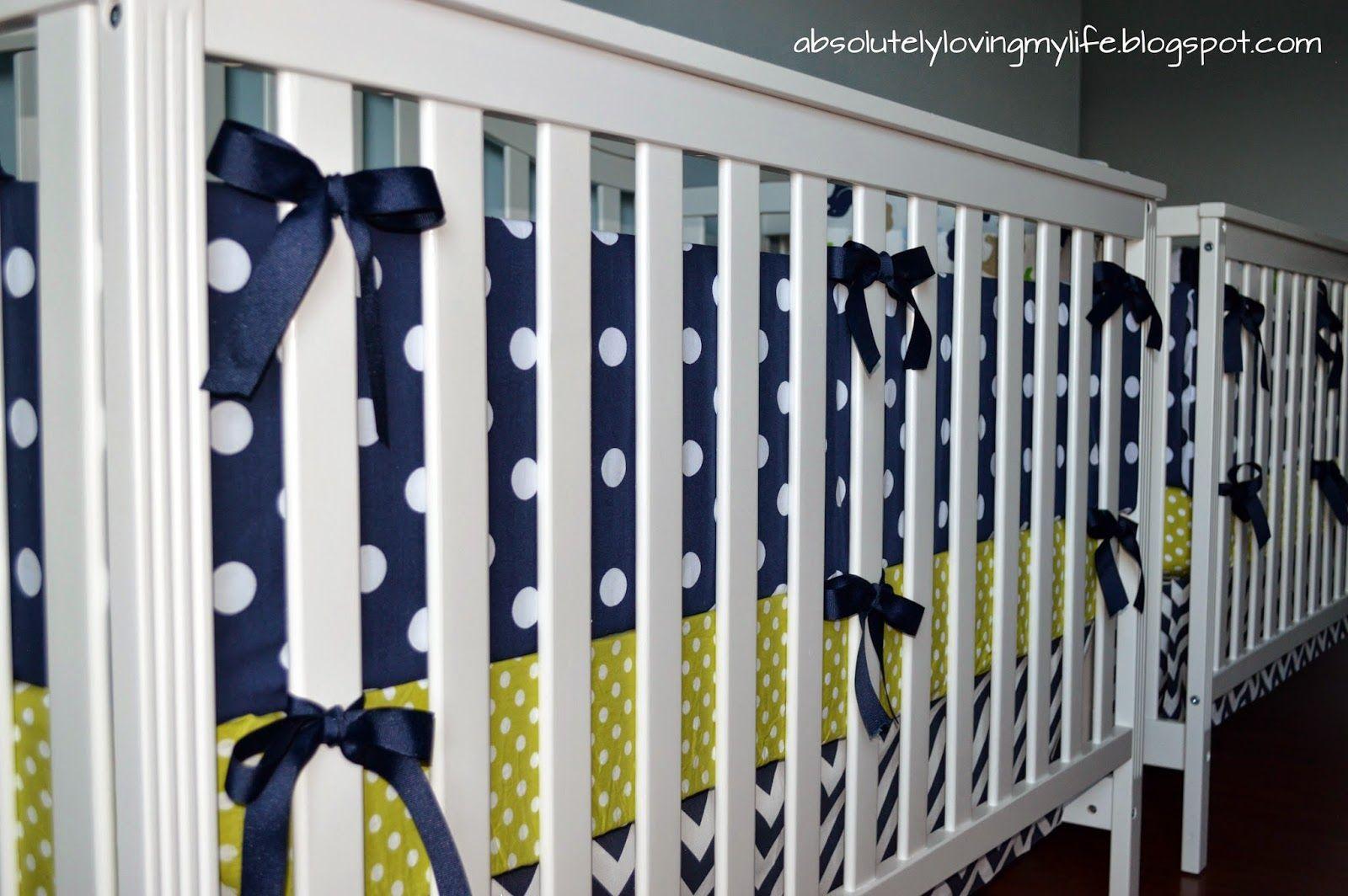 Loving Life: DIY No Sew Crib Bumper | Crib bumper, Baby ...