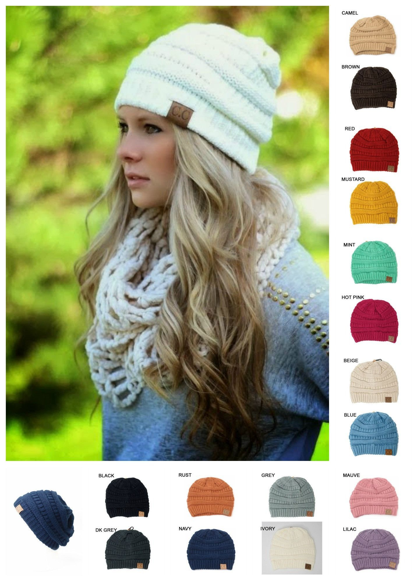 d6a3e9bf78c Slouchy C.C. Beanies – Sweet N Sassy Us