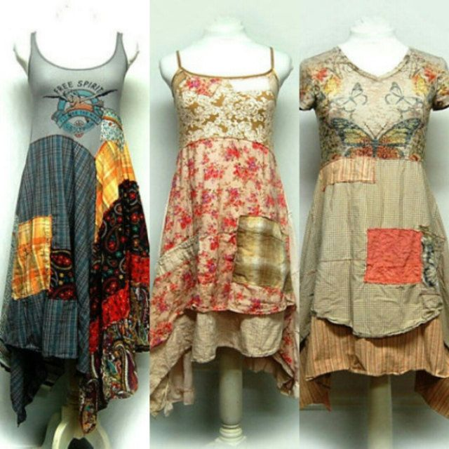UNIQUE UPCYCLED CLOTHING WITH A BOHO HIPPIE by ...