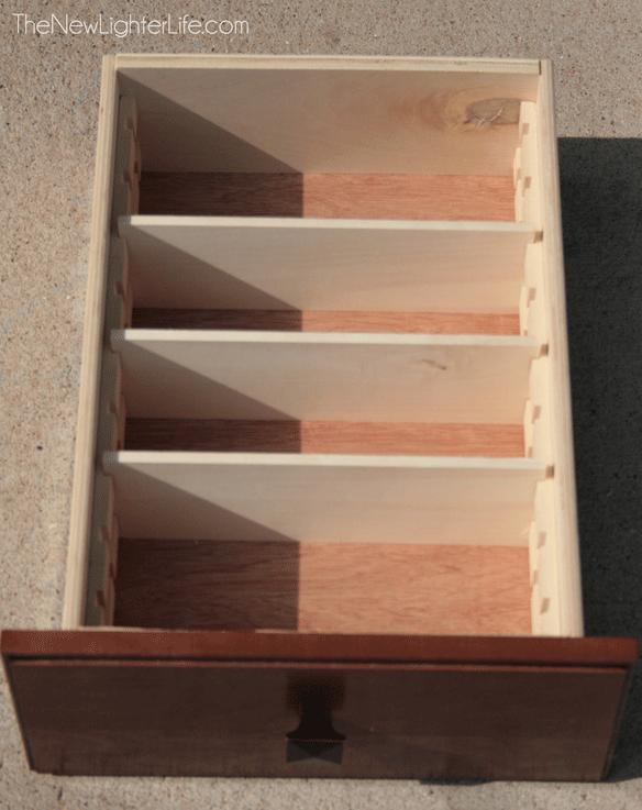 diy built in drawer organizers just plain good ideas pinterest. Black Bedroom Furniture Sets. Home Design Ideas