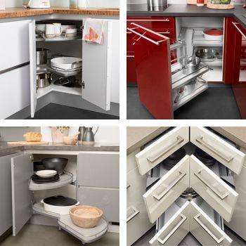Darty Cuisine - Nos équipements - Aménagements - Aménagements d - amenagement placard d angle cuisine