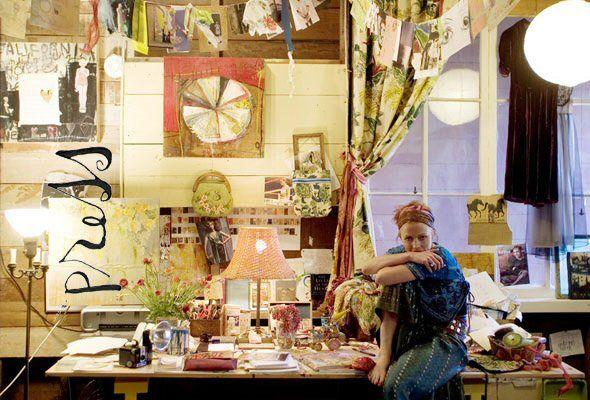 sabrina ward harrison; i dream to have a studio just like this.