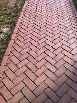 Herringbone Bricks Brick Pathway Brick Sidewalk Brick Paving
