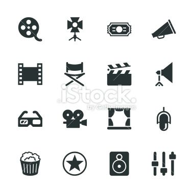 Film Industry Silhouette Vector File Icons Camera Film Tattoo