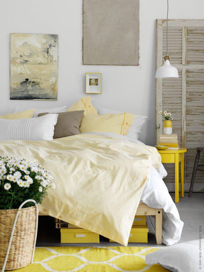 ▷ 1001 + Ideen Für Schlafzimmer Deko   Die Angesagteste Trends Des Jahres |  Pinterest | Gelbe Teppiche, Schlafzimmer Dekorieren Und Gelbe Blumen