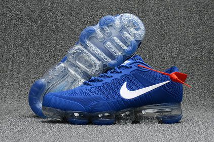 finest selection 6ecf7 9c24a Nike Air Max 2018 Lastest Nike Air Max 2018 Coupon Navy Blue White Nike Air  VaporMax Flyknit New Rlease 2017 Fashion Sports Shoe For Discount