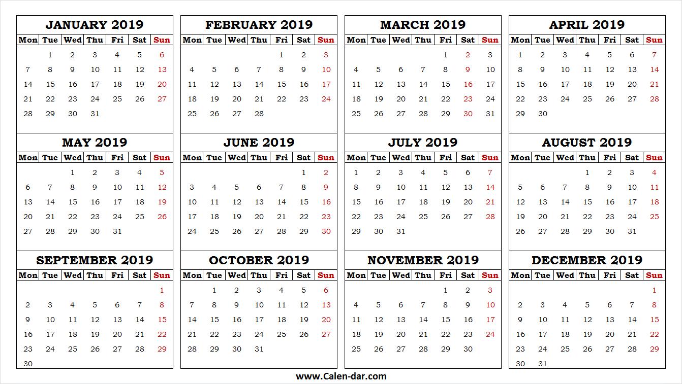 2019 Calendar Png Calendar Png 2019 Calendar Yearly Calendar