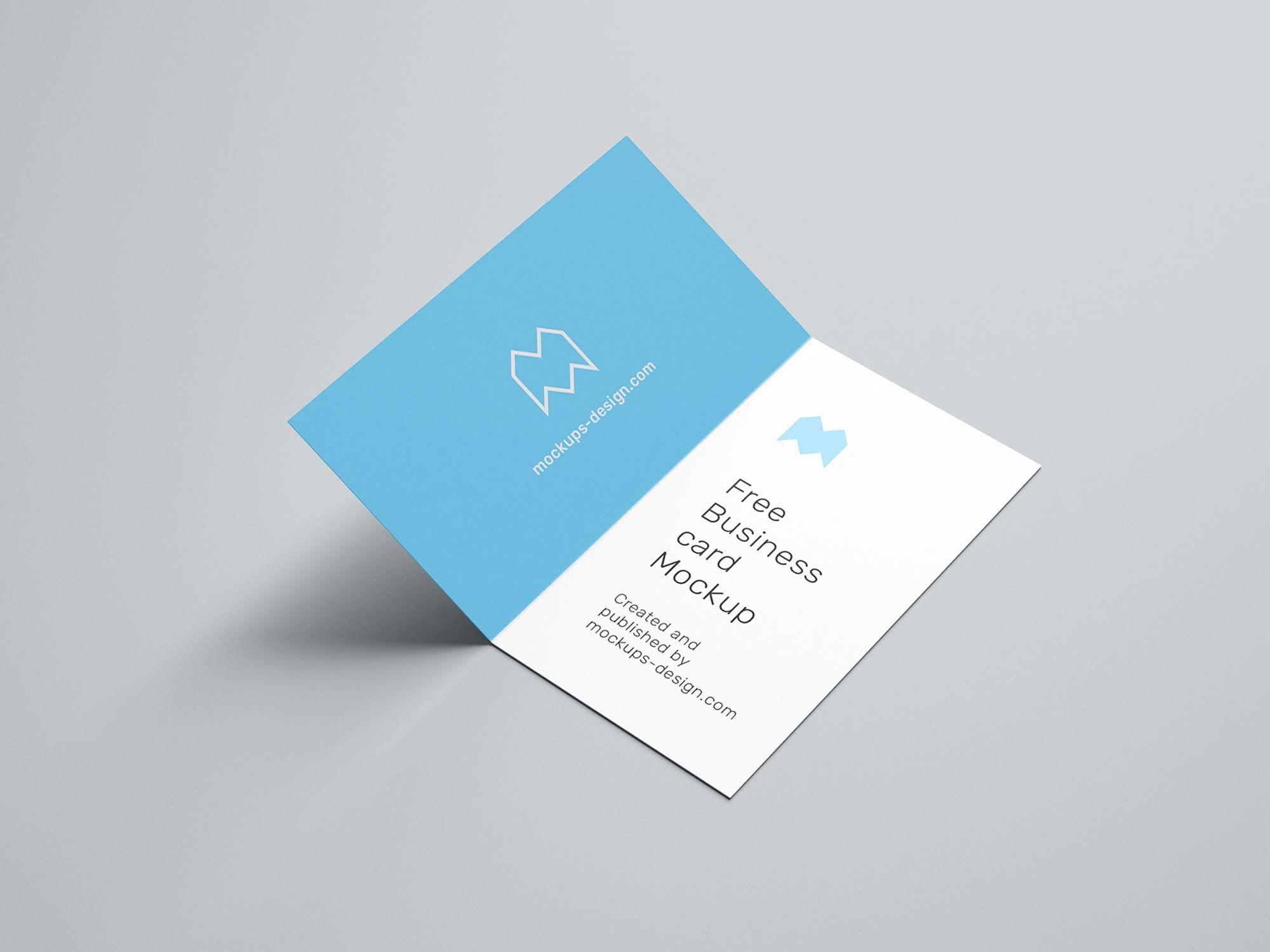 Free Folded Business Card Mockup Psd Free Business Card Mockup Business Card Mock Up Business Cards Mockup Psd