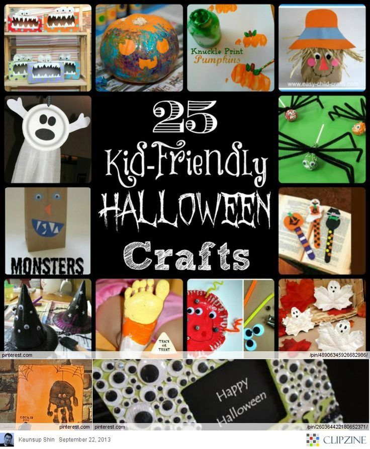 25 Kid-Friendly Halloween Crafts - halloween kids craft ideas