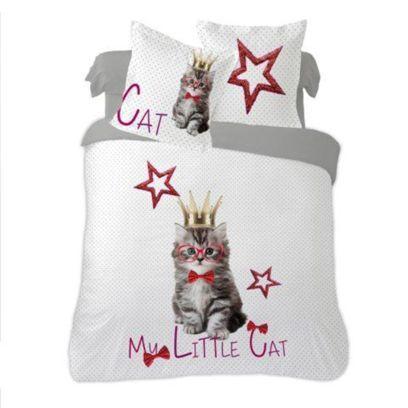 Dourev Housse De Couette 220x240 Cm Little Cat 100 Coton 2 Taies Housse De Couette 200x200 Housse De Couette Couette 200x200