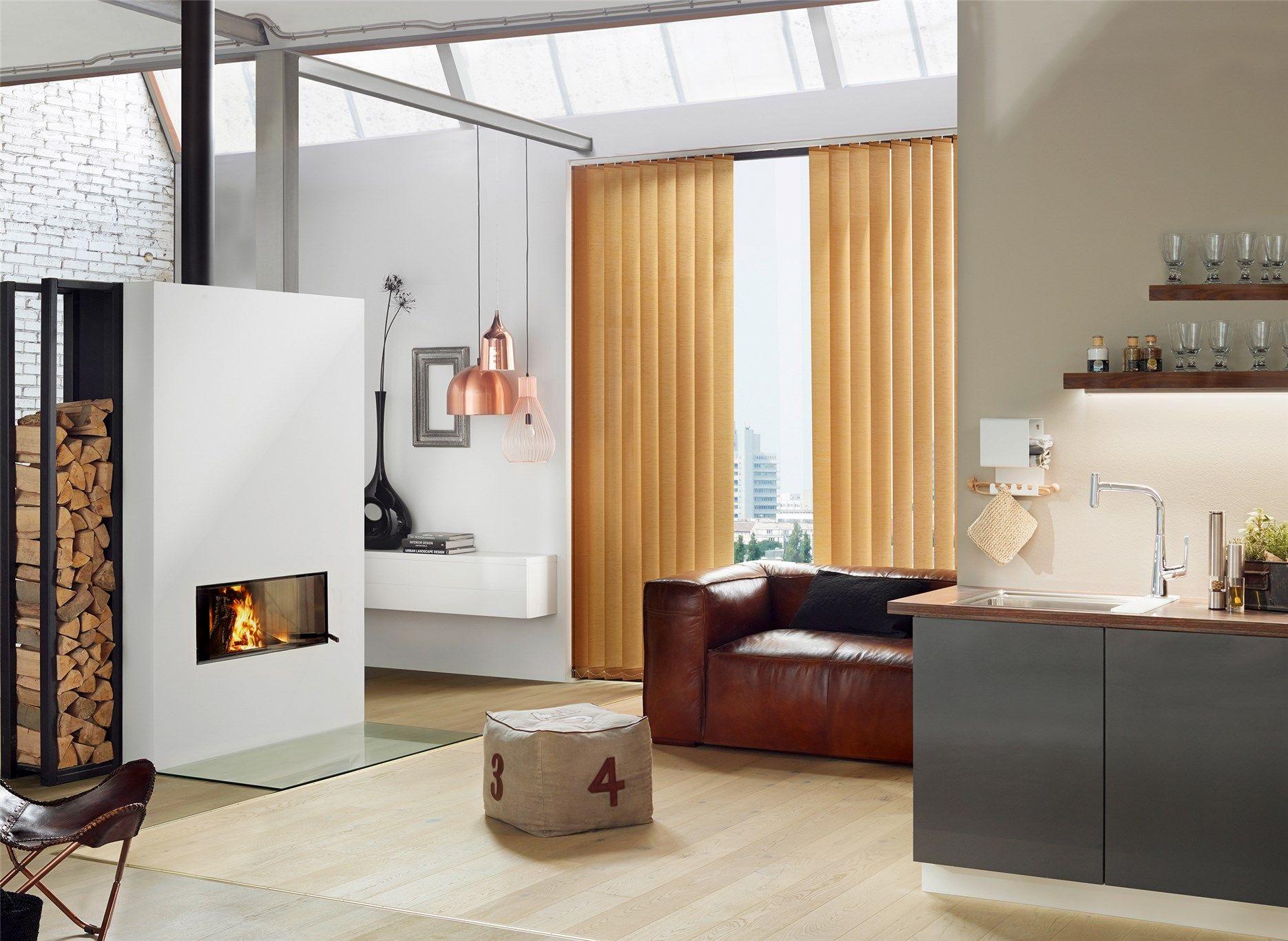 wohnzimmer im loft stil mit lamellenvorhngen von erfal - Loft Stil