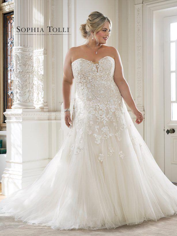 bc00bad6eb8a1 Plus Size Perfection from Sophia Tolli | Wedding Dresses | Wedding ...