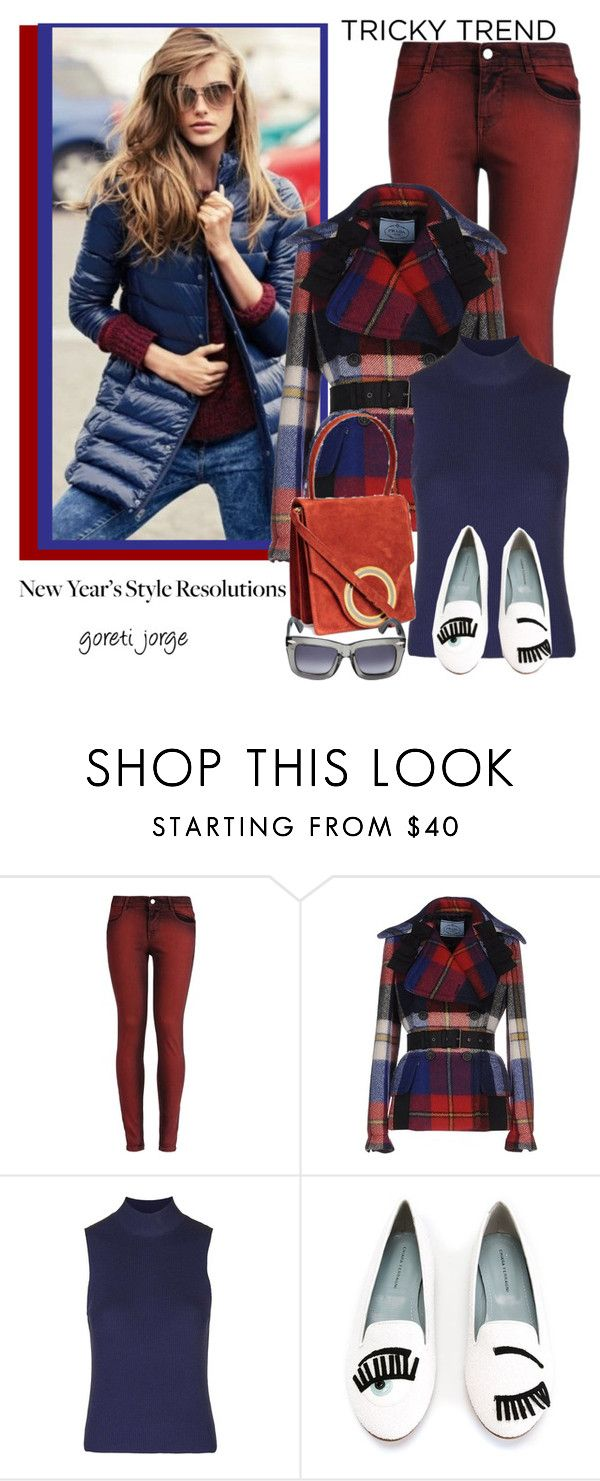 """""""New Year's Style Resolution"""" by goreti ❤ liked on Polyvore featuring STELLA McCARTNEY, Prada, Topshop, H&M, Chiara Ferragni, Grey Ant and styleresolution"""