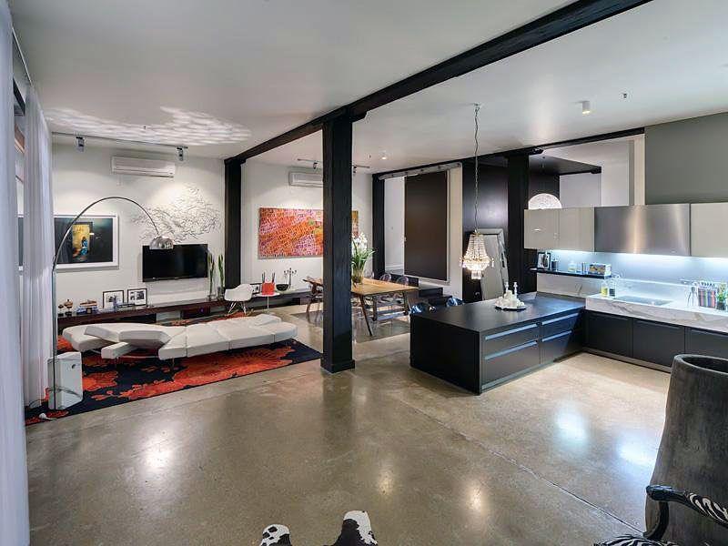 australia beautiful contemporary apartment design modern open living room apartment design home design ideas - Open Apartment Design