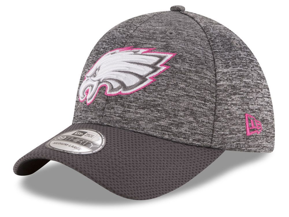 brand new 0a048 a8496 Philadelphia Eagles New Era NFL Breast cancer Awareness Official 39THIRTY  Cap