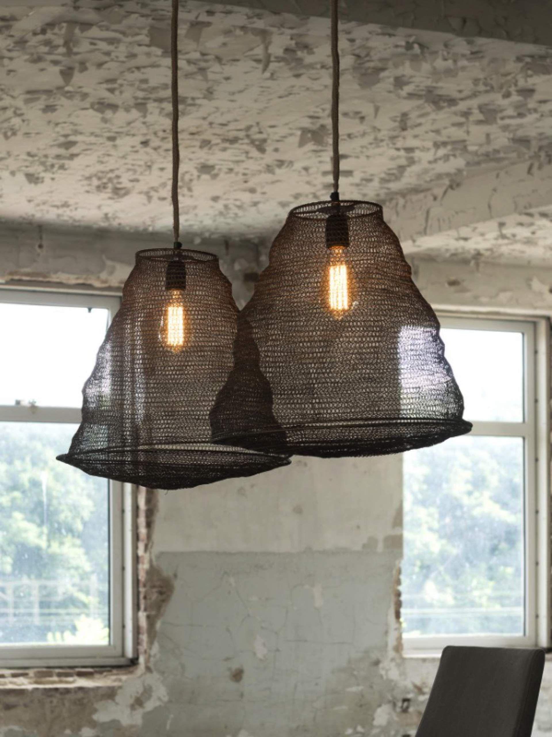 Design Korb Pendelleuchte Aus Metall 2 Lampen Mit Je Durchmesser 44 Cm Lassige Und Moderne Pendelleuchte Bronzefarben In S Pendelleuchte Anhanger Lampen Lampe
