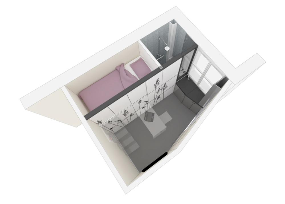 Supérieur Amenager Chambre 8M2 #6: Gallery Of Tiny Apartment In Paris / Kitoko Studio - 21