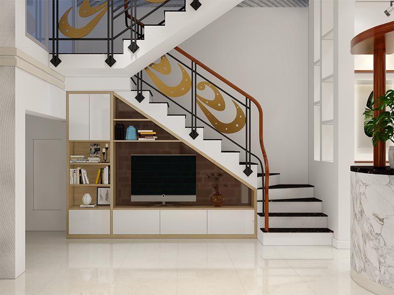 Trang trí gầm cầu thang | Nhà cửa, Cầu thang, Trang trí