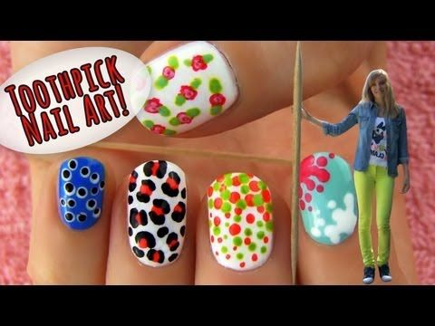 Toothpick Nail Art 5 Nail Art Designs Ideas Using Only A Toothpick Cool Nail Art Simple Nail Designs Nail Art For Kids
