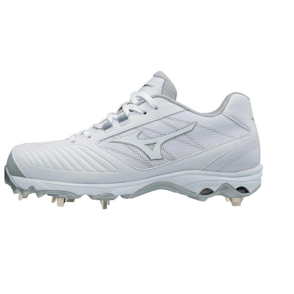 great fit 059f9 f70d1 Mizuno Womens Softball Shoes - 9-Spike Advanced Sweep 4 Low Womens Metal  Softball Cleat - 320569 Size 11 White (0000)