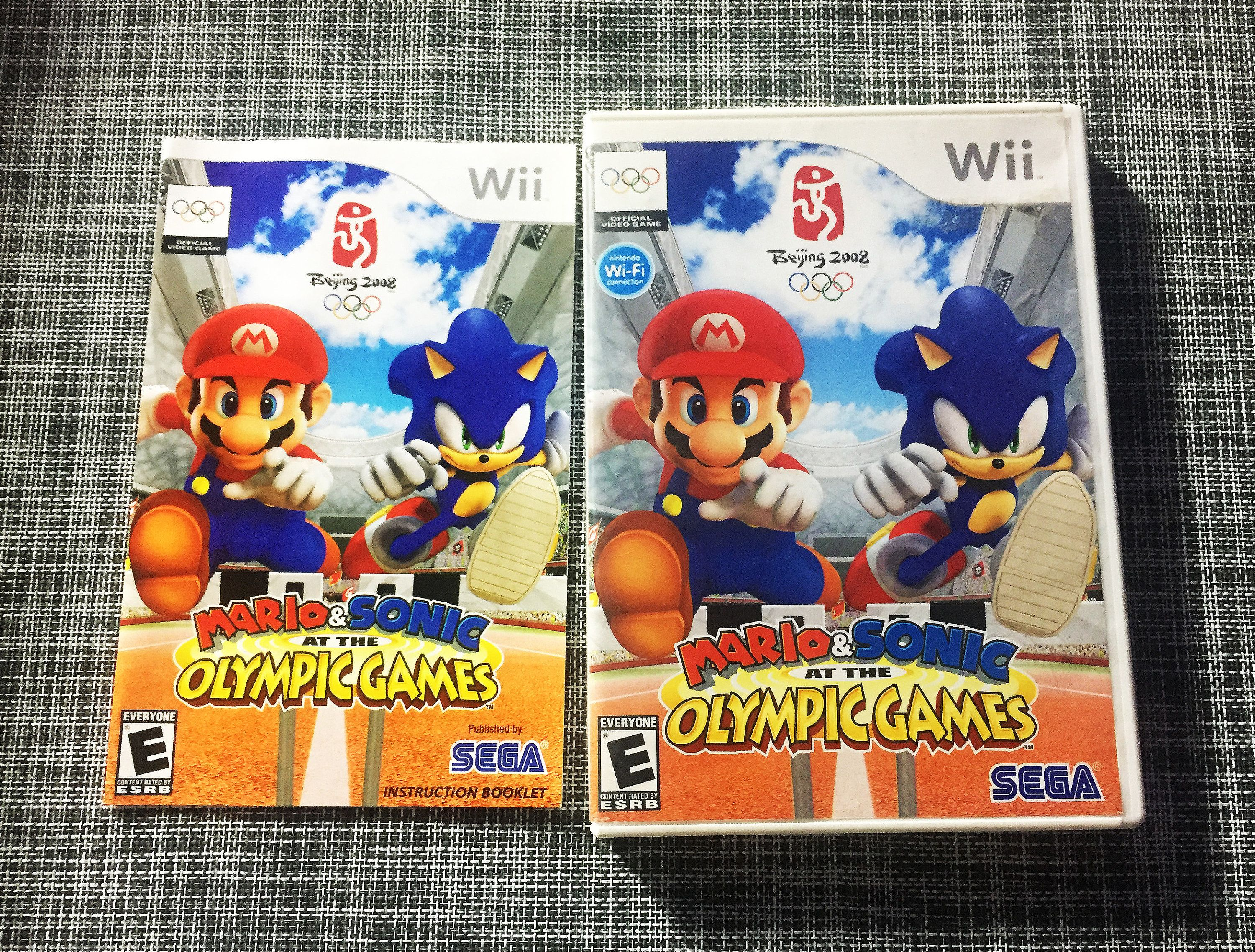 Mario Sonic At The Olympic Games Case And Booklet Only Etsy Olympic Games Sonic Wii