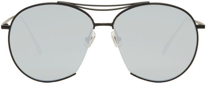 b1b3a0f75 Gentle Monster Black and Silver Jumping Jack Aviator Sunglasses Preto  Matte, Polichinelos, Lentes,