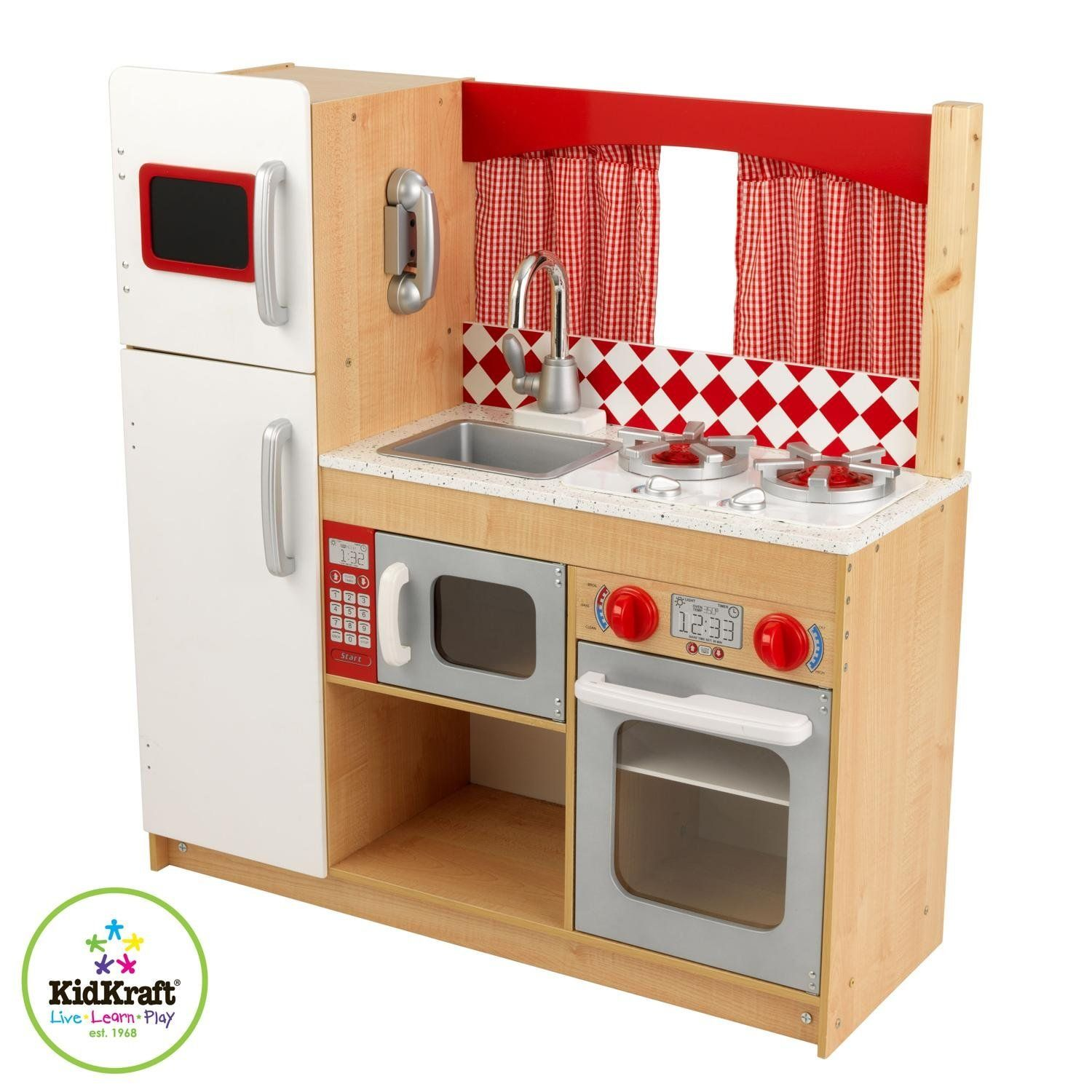 Wood Play Kitchen White Wood Vs Toy