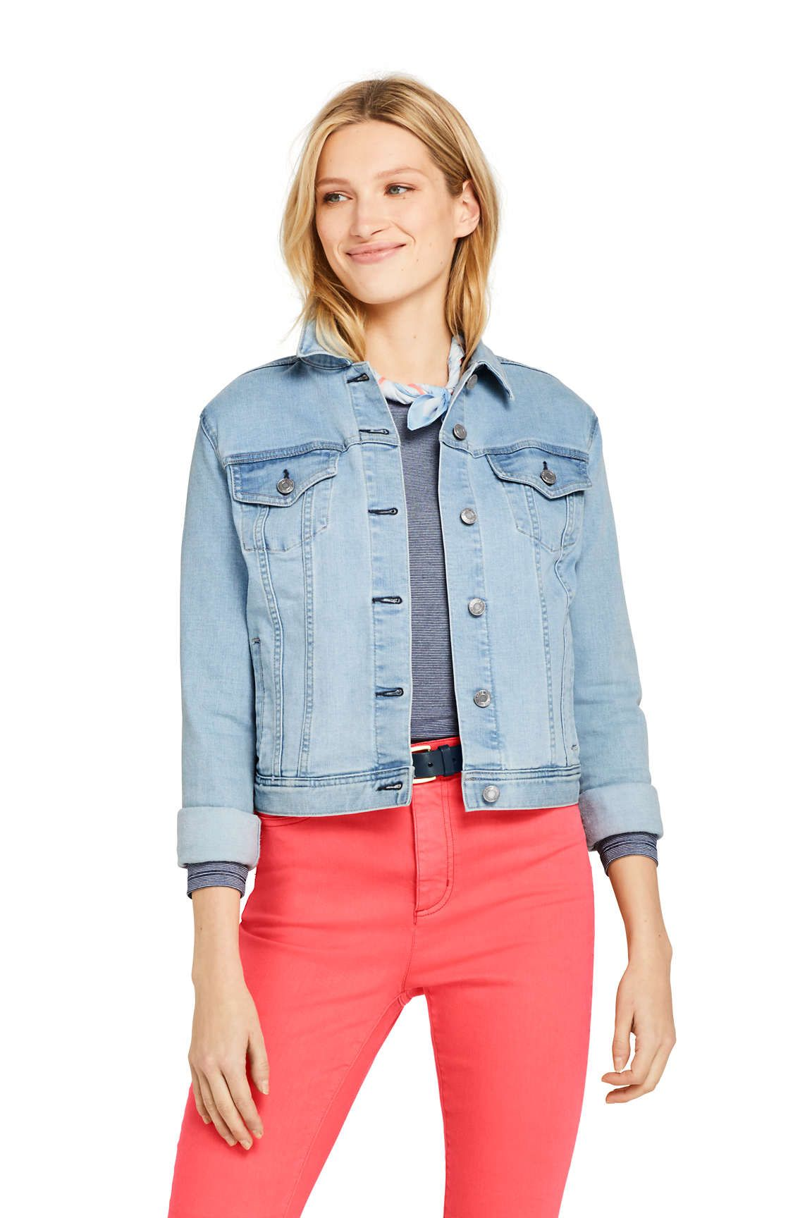 3cae6cfd186 Women's Long Sleeve Denim Jacket from Lands' End | Lands End. in ...