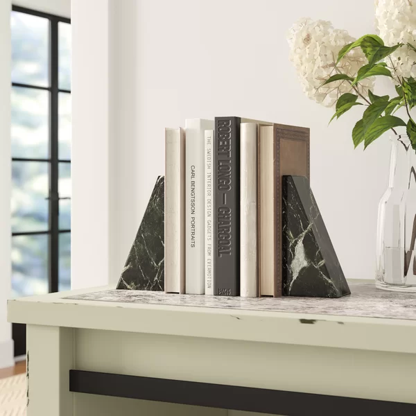 Marble Non-Skid Bookends In 2020